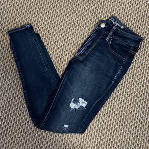 Dark Distressed AE Jeans